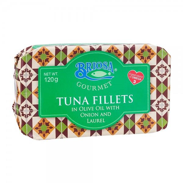 Briosa Gourmet | Thunfischfilet in Olivenöl mit Zwiebel und Lorbeerblatt | 120g
