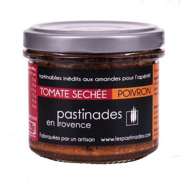 Pastinades getrocknete Tomaten mit Paprika Aperitif Creme