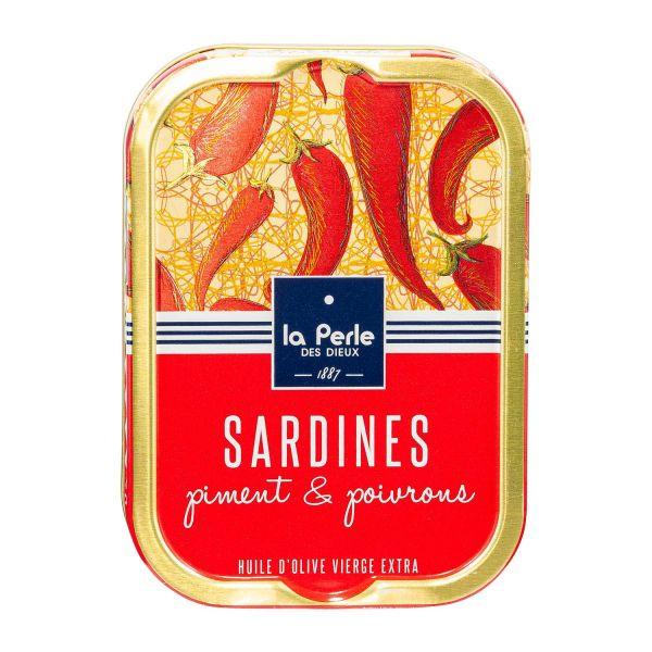 La Perle des Dieux | Ölsardinen mit Chili und Paprika