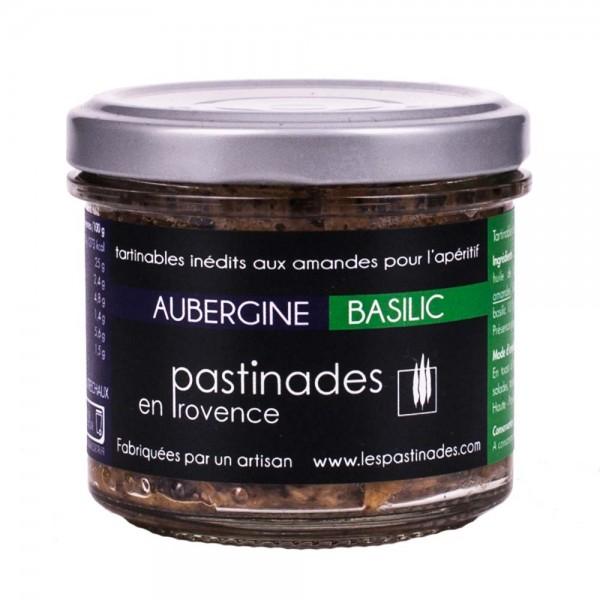 Pastinades Aubergine mit Basilikum Aperitif Creme