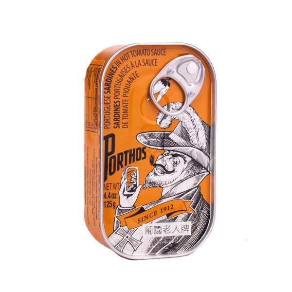 Porthos   Sardinen in scharfer Tomatensauce   125g